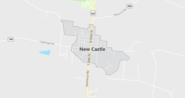 Map of New Castle, KY