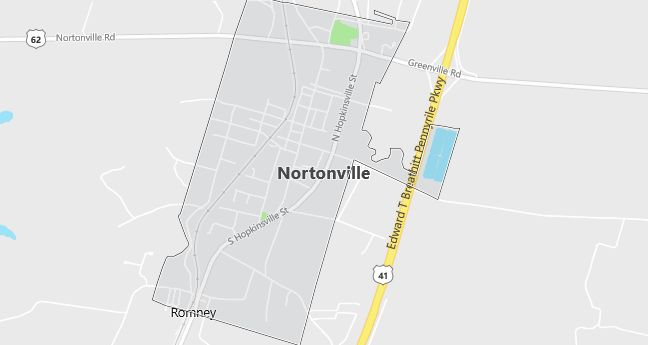 Map of Nortonville, KY