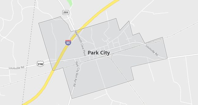 Map of Park City, KY