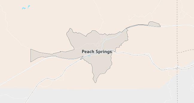 Map of Peach Springs, AZ