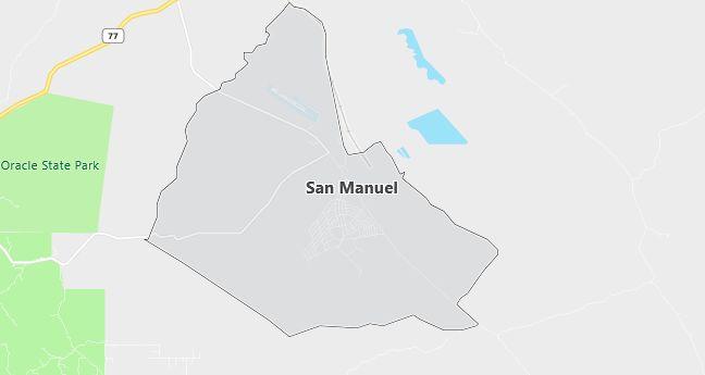 Map of San Manuel, AZ