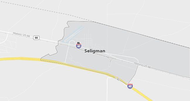 Map of Seligman, AZ
