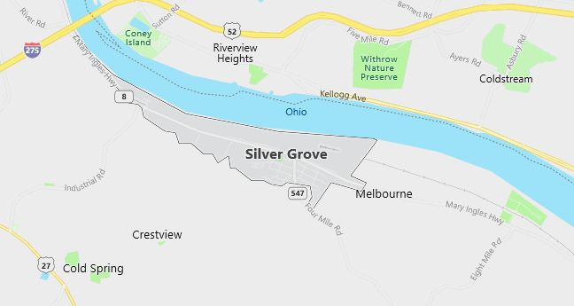 Map of Silver Grove, KY