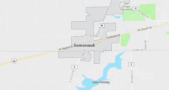 Map of Somonauk, IL