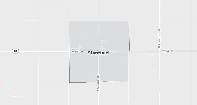 Map of Stanfield, AZ