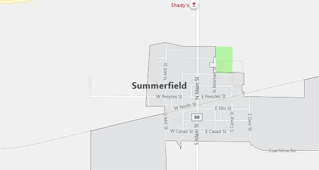 Map of Summerfield, IL