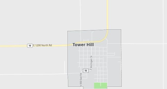 Map of Tower Hill, IL