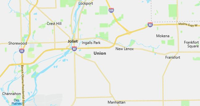 Map of Union, IL