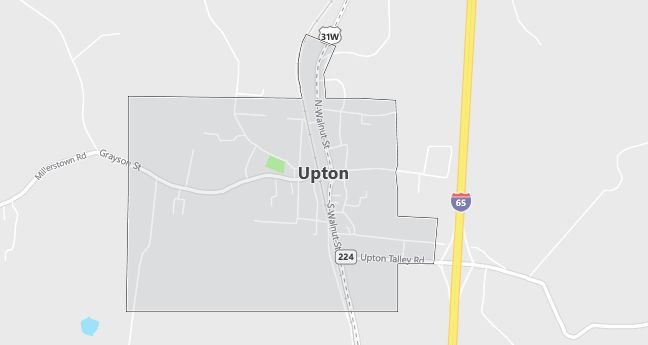 Map of Upton, KY