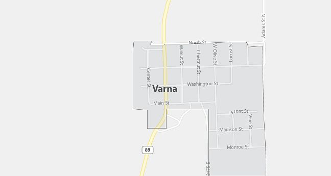 Map of Varna, IL