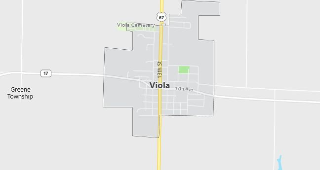 Map of Viola, IL