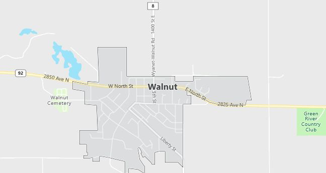 Map of Walnut, IL