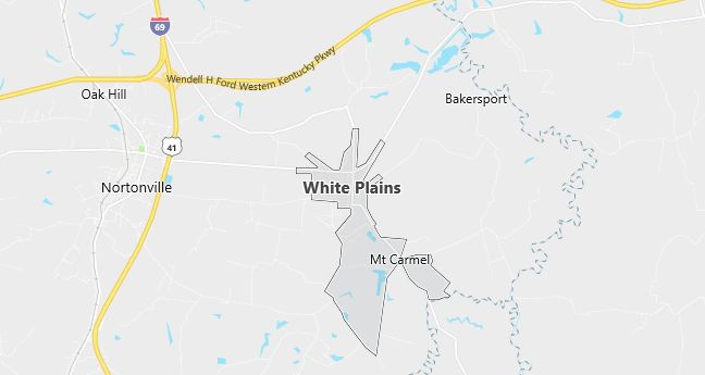 Map of White Plains, KY