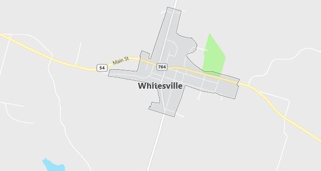 Map of Whitesville, KY