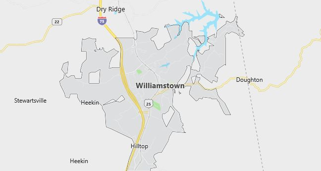 Map of Williamstown, KY