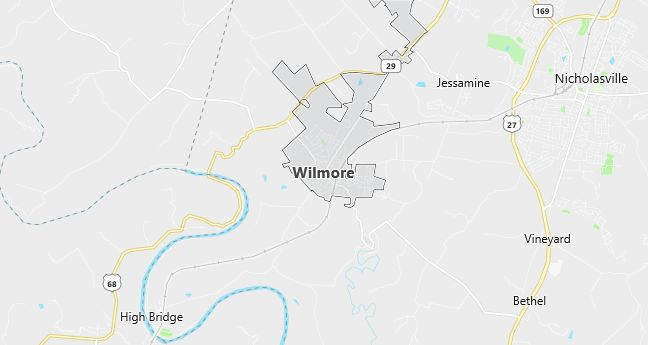 Map of Wilmore, KY