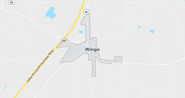 Map of Wingo, KY