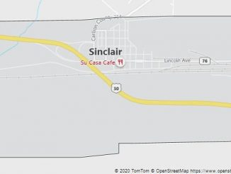 Map of Sinclair, WY