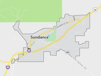 Map of Sundance, WY
