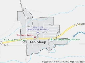 Map of Ten Sleep, WY