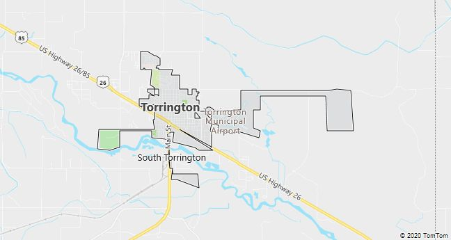 Map of Torrington, WY