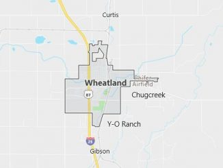 Map of Wheatland, WY