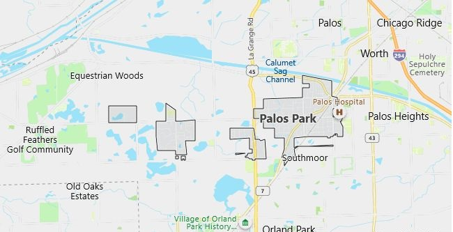 Map of Palos Park, IL