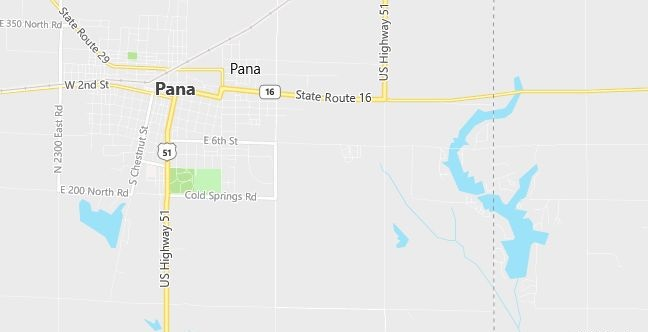 Map of Pana, IL