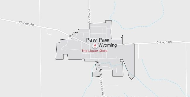 Map of Paw Paw, IL