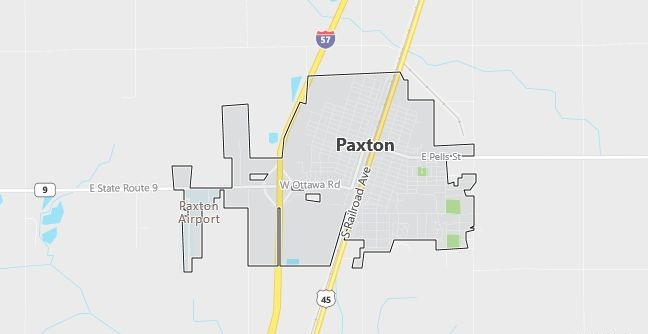 Map of Paxton, IL