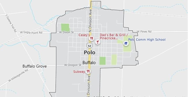 Map of Polo, IL