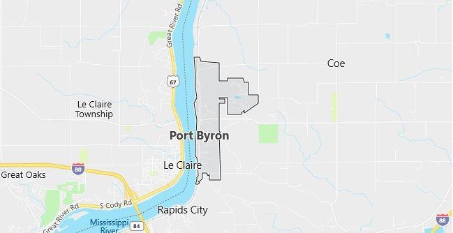 Map of Port Byron, IL
