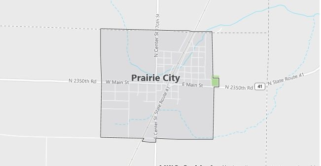Map of Prairie City, IL