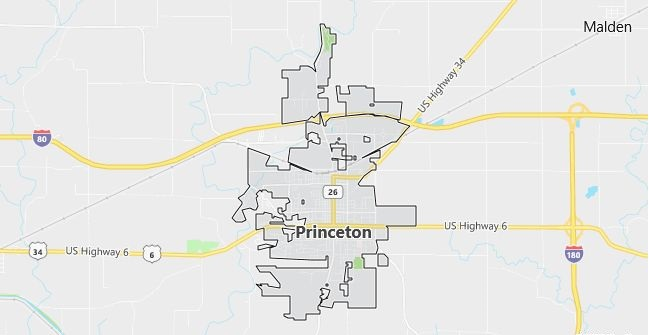 Map of Princeton, IL
