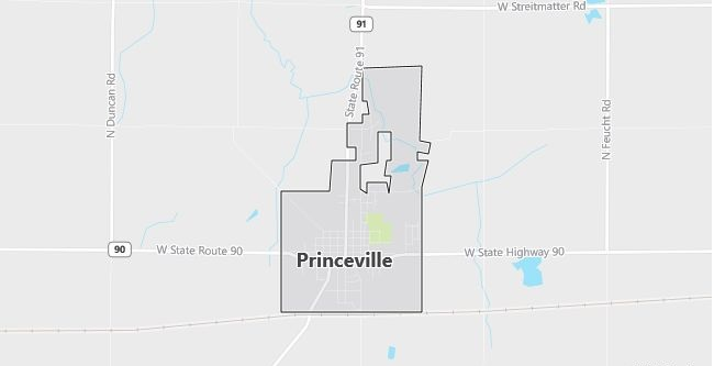 Map of Princeville, IL