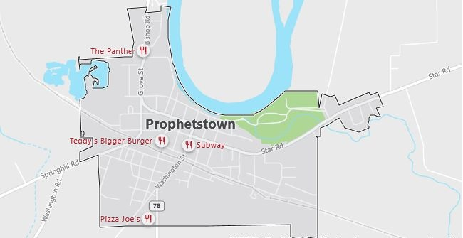 Map of Prophetstown, IL