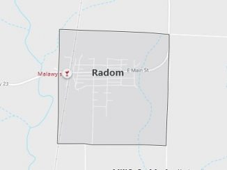 Map of Radom, IL