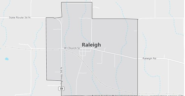 Map of Raleigh, IL
