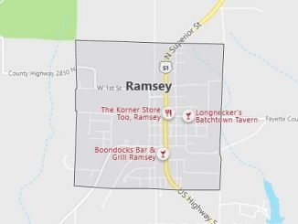 Map of Ramsey, IL