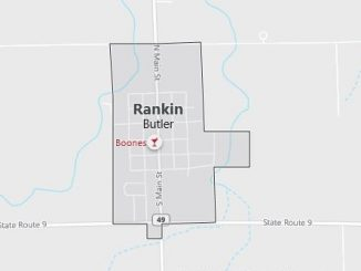 Map of Rankin, IL