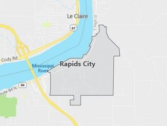 Map of Rapids City, IL