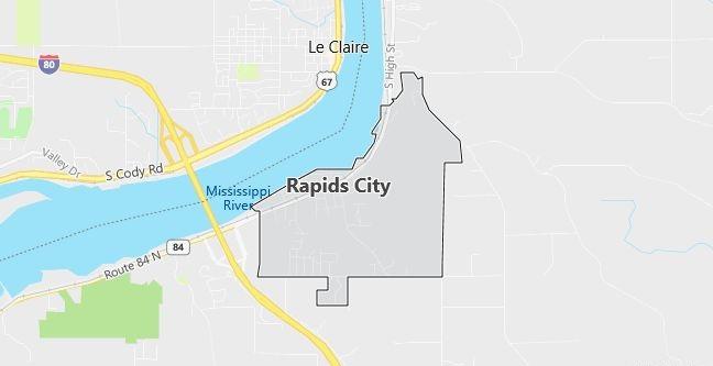 Map of Rapids City, IL