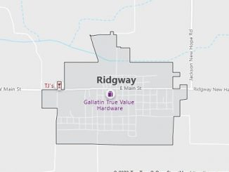 Map of Ridgway, IL