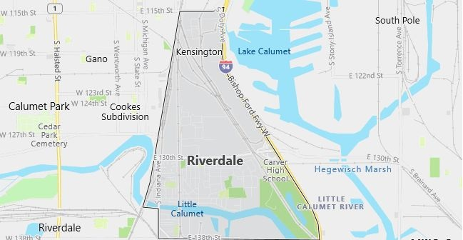Map of Riverdale, IL