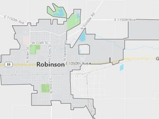 Map of Robinson, IL