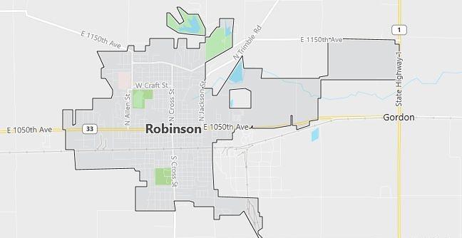 Map of Robinson, IL