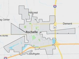 Map of Rochelle, IL