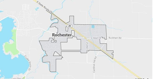 Map of Rochester, IL