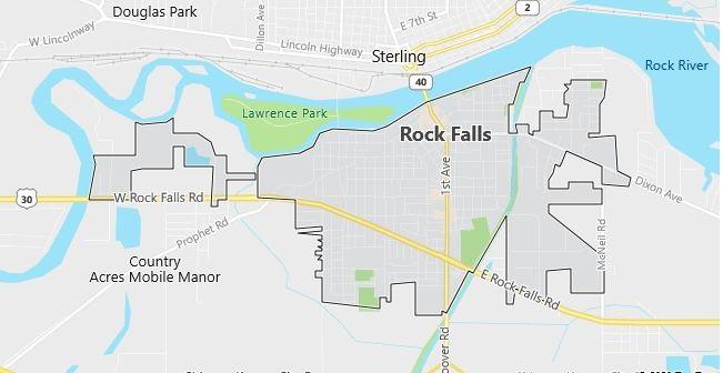 Map of Rock Falls, IL
