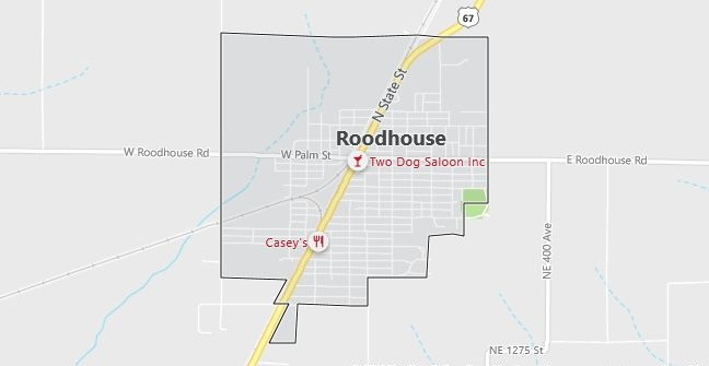 Map of Roodhouse, IL